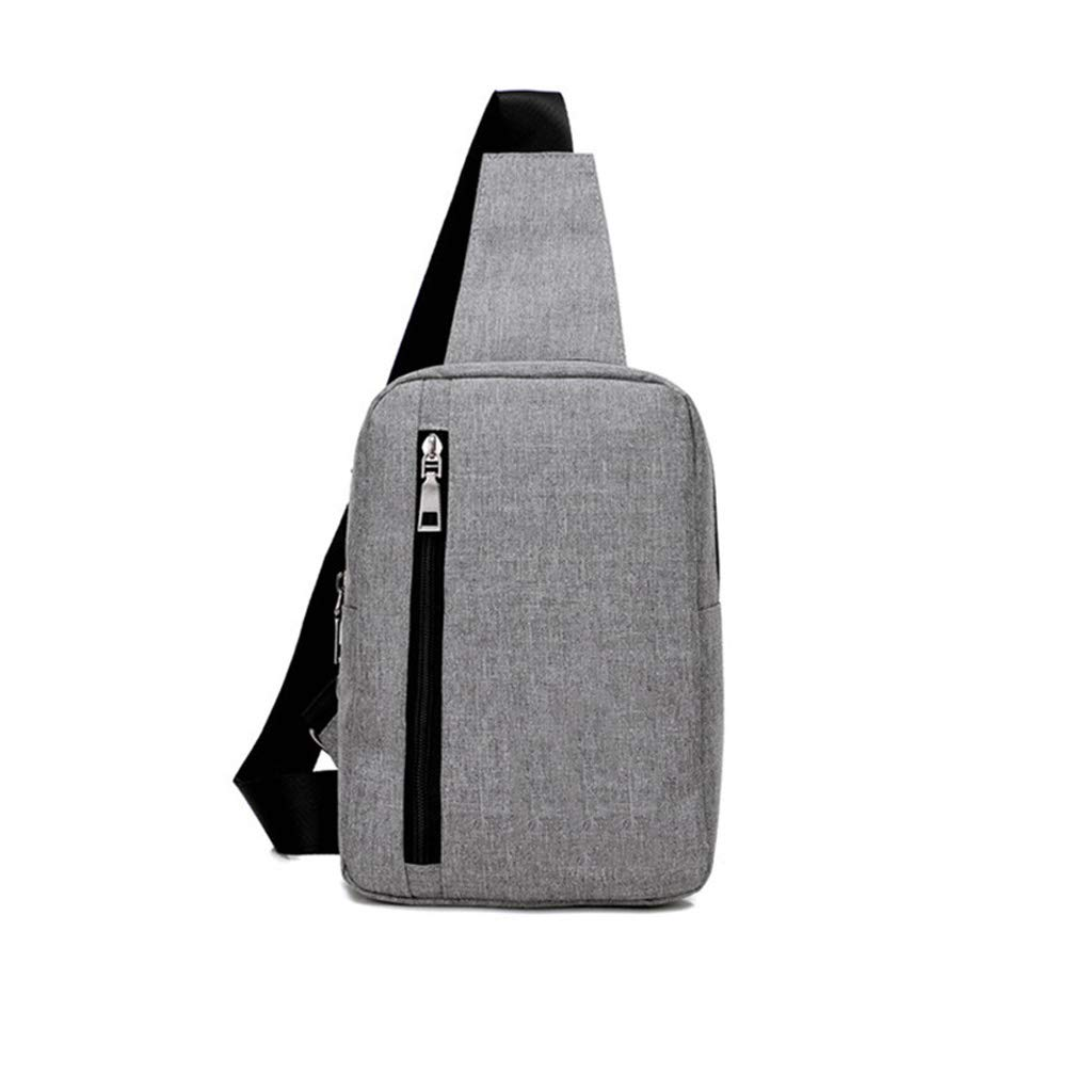 Color : Purple Canvas Waterproof Chest Bags Big Capacity Messenger Waist Bags Small Shoulder Messenger Bags