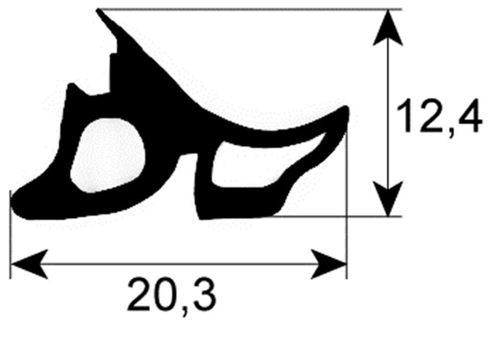 CONVOTHERM T/ürdichtung f/ür Kombid/ämpfer OES6.06 Mini L/änge 1470mm Profil 2480 verschwei/ßt easy touch