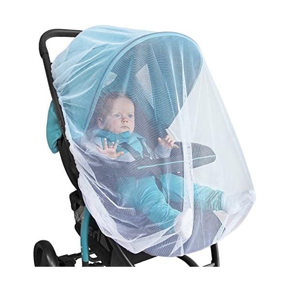 510V14RZT3L. SS600  - Baby Mosquito Net for Stroller, Car Seat & Bassinet – Premium Infant Bug Netting for Jogger, Carrier & Pack N Play…