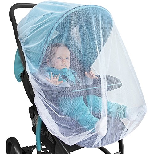 (Baby Mosquito Net for Stroller, Car Seat & Bassinet - Premium Infant Bug Protection for Jogger, Carrier & Pack N Play - Toddler Shield Canopy & Gift Packaging)