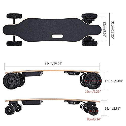 Kaluo Electric Skateboard Automatic Longboard, 22 MPH 13 Mile Range 1800W Motorized Skateboard...