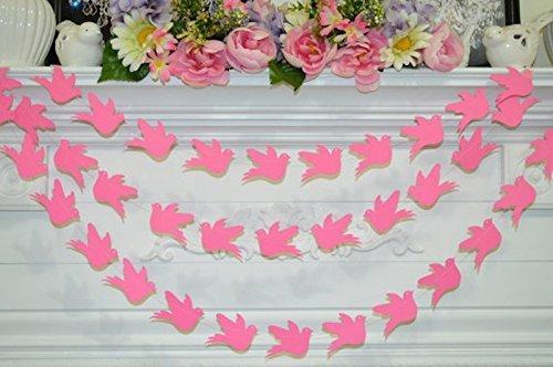Amazon Com Wedding Dove Garland Baby Shower Decor Paper Dove