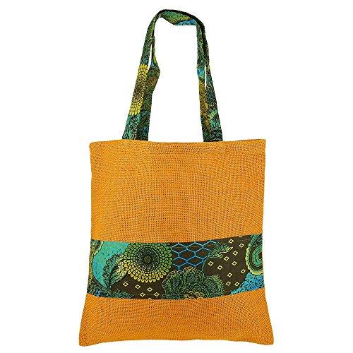 Multiuso Grande Shopping Bag - Borsa di Boho di legno naturale Eco Friendly iuta