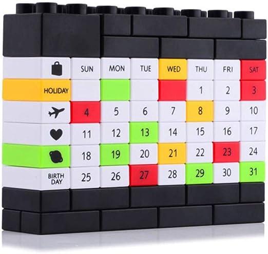 Grea Creativo Calendario de Escritorio Lindo Bloque de plástico ...