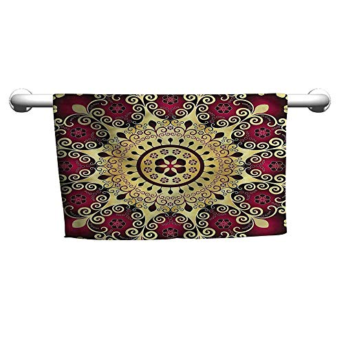 Flowered Mandala,Vibrant Antique Swirl Motif,Hooded Towel for Baby - Swirl Gemstone Multi