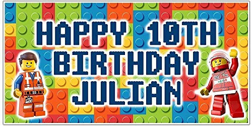(Building Blocks Personalized Birthday Banner)