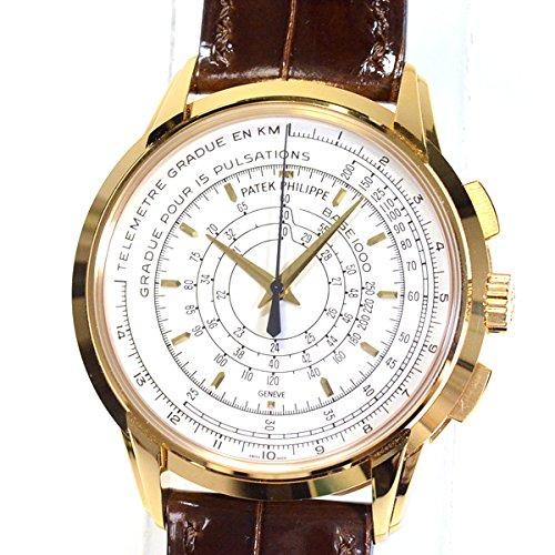 [パテックフィリップ]PATEK PHILIPPE 腕時計 マルチスケール クロノグラフ 5975J-001 中古[1302197]シルバー 付属:国際保証書 ボックス   B07DCHCJ3Z