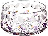 Dale Tiffany GA80043 Lavender Leaf Decorative Crystal Bowl , 8-1/2-Inch by 4-3/4-Inch