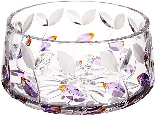 Dale Tiffany GA80045 Lavender Leaf Decorative Crystal Bowl , 13-Inch by 1-3/4-Inch Antique Crystal Bowls