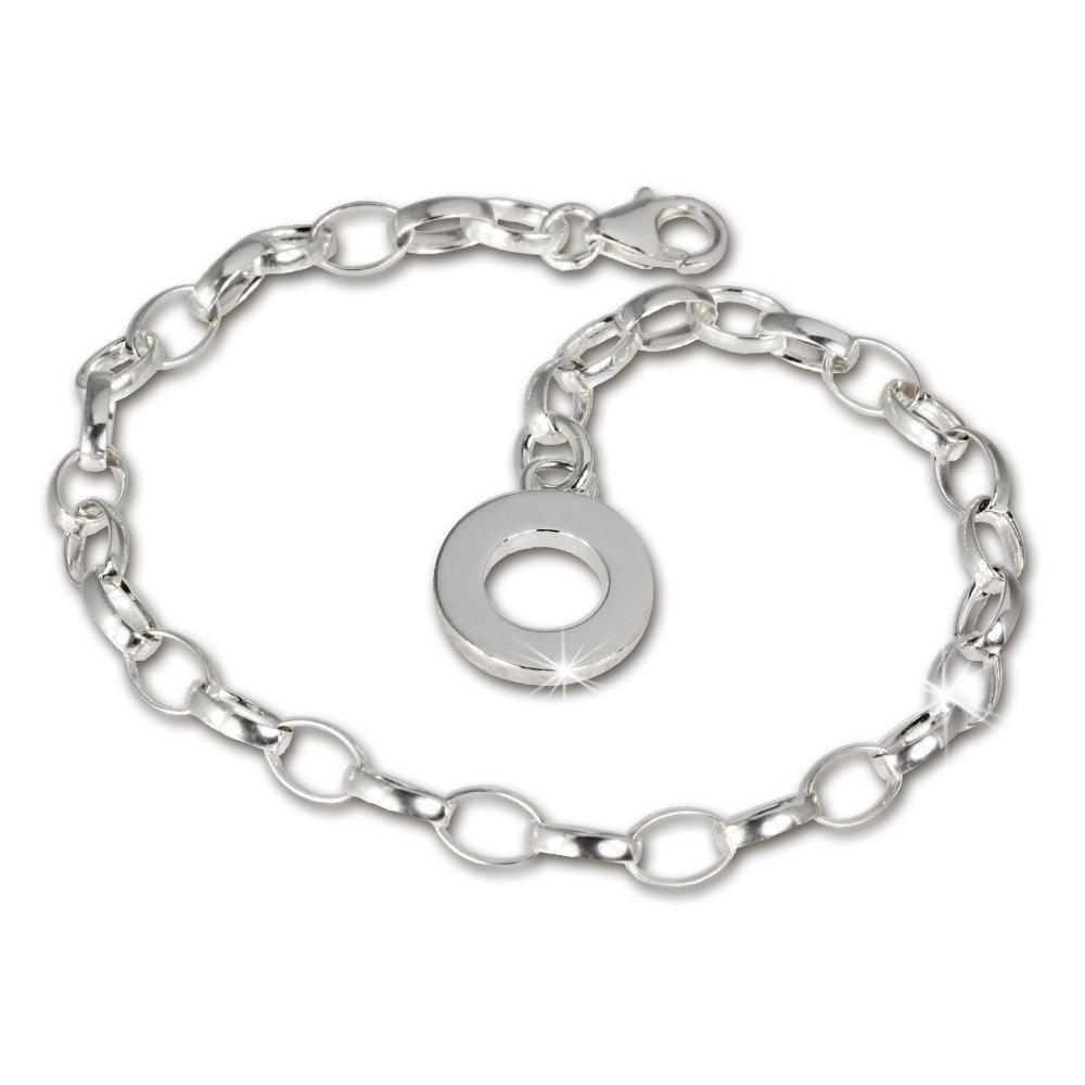 SilberDream Charms - Charm bracelet avec une plaque d'argent pour le SilberDream *Charms - en argent Sterling 925/1000 - pour Femme - chaine pour les charms - taille 17cm - FC0700