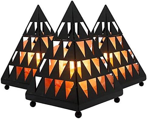 Himalayan Ionic Hand Carved Natural Salt Pyramid Lamp