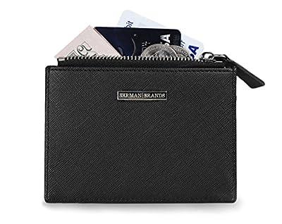 SERMAN BRANDS - Womens Wallet Rfid Blocking Credit Card Holder Slim Minimalist Wristlet Card Case Wallet with Zipper Pocket