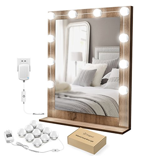SingPad Lighted Mirror LED Light for Cosmetic Makeup Vanity Mirror Kit,Hollywood Style Dimmable LED Vanity Lights for Makeup Vanity Table Set in Dressing Room by SingPad