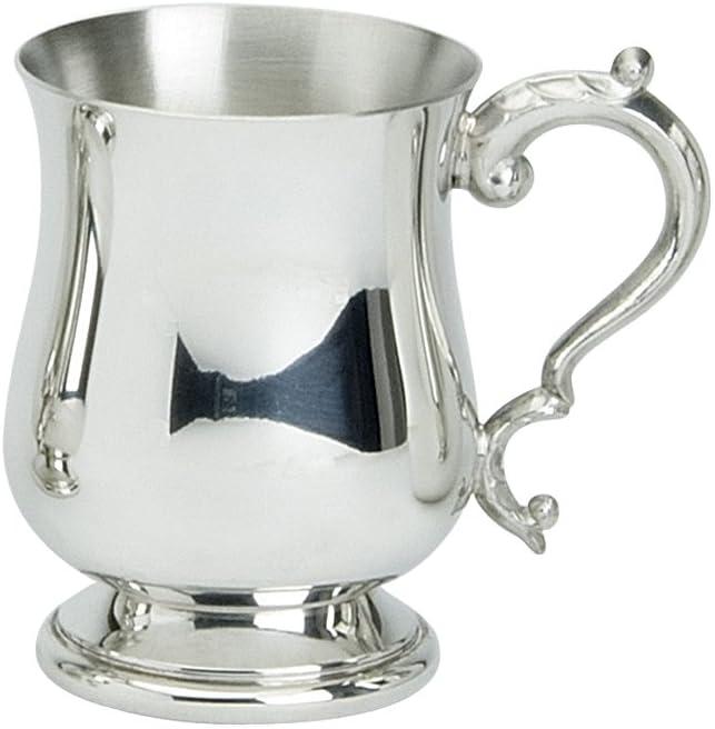 Edwin Blyde & Co Tradicional georgiano con Forma de 1/2Pinta Jarra con pie sólido y de Metal–Cuerpo de diseño georgiano con diseño de Mango georgiano, Peltre