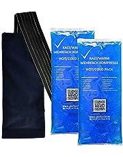 4 stycken 12 cm x 29 cm + 2 premium fleecefodral kall varm kompression flera gånger återanvändbar coolpack mikrovågsugnar lämplig