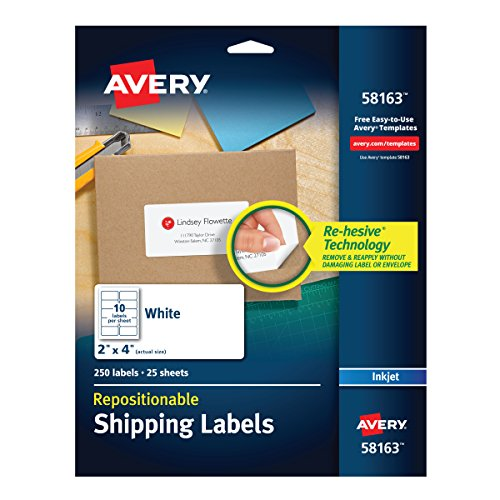Avery Repositionable Shipping Printers 58163