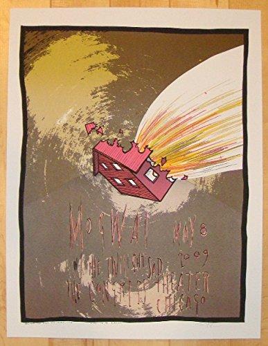 2009 Mogwai - Chicago Silkscreen Concert Poster by Jay Ryan