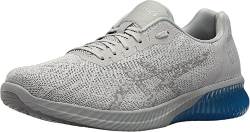 ASICS Gel-Kenun Men's Running Shoe, Grey/Grey/Electric Blue, 6 M US (Electric Blue Sneakers)
