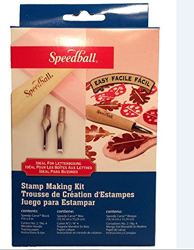 Own Art Rubber Stamp - Speedball Speedy-Carve Rubber Stamp Making Kit – Great Starter for Beginners