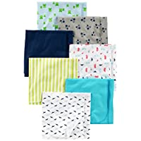 Simple Joys by Carter's Baby Boys' 7-Pack Flannel Receiving Blanket, Blue/Whi...