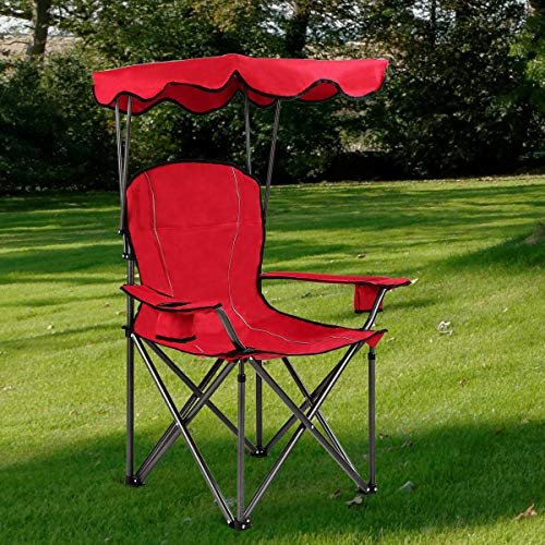 Stark Item Portable Folding Beach Canopy Chair W/Cup Holders Bag Camping Hiking Outdoor (Me Near Umbrella Store Beach)