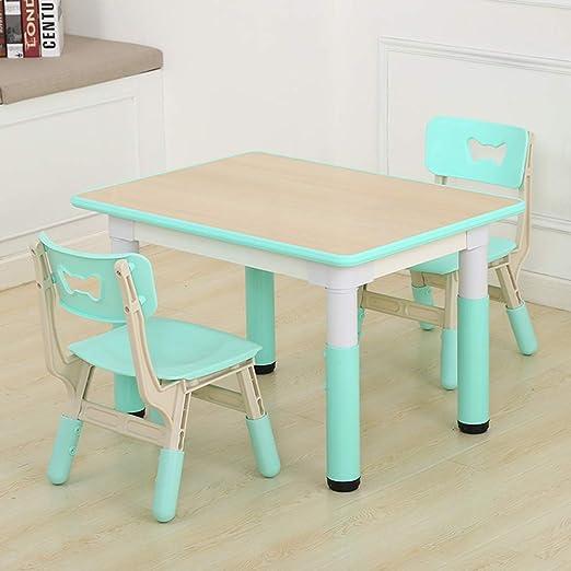 Mesa de Estudio para niños y Juego de sillas, Mesa de Madera de ...