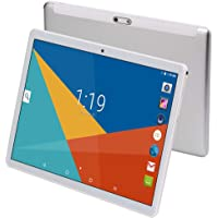 """Tablet 10 Inch (10.1"""")   4GB RAM,64GB ROM,Android 7.0   GPS,WiFi,USB,1280X800 IPS Screen,Octa Core CPU,2+8 MP Camera Computer PC (Silver)"""