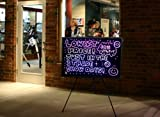 """32""""x24"""" Large Flashing Illuminated Erasable Neon LED Writing Board Menu Sign with Control Button (A Complete Set-8 8mm Fluorescent Marker Pens Included)(7 Colors and Flashing Mode) by Autolizer"""