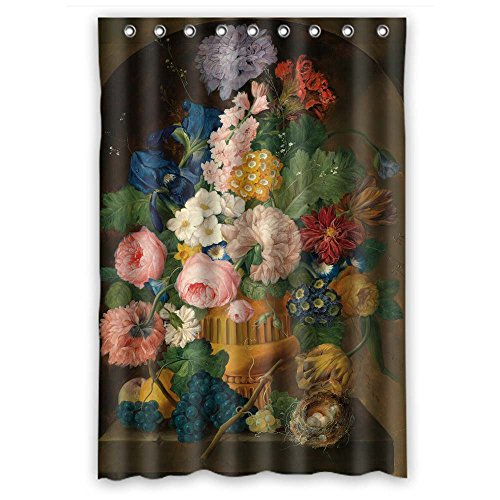 cosbudy Custom Design Famous Classic Art Painting Flowers Blossoms Shower Curtain, Size Width X Height / 48 X 72 Inches/W H 120 by 180 cm, Polyester, Anti-Bacterial, Best and Suitable for Decorative