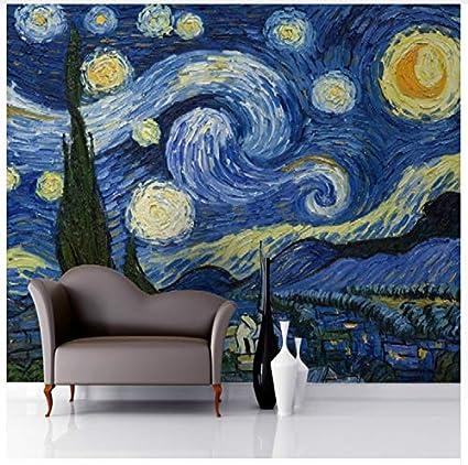 Carta Da Parati 3d Per Parete 3d Notte Stellata Van Gogh Art Murale