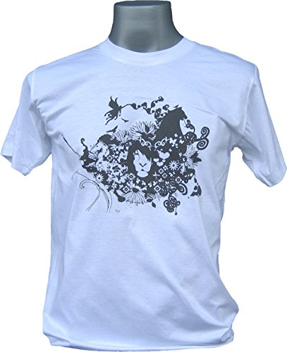 RaanPahMuang Entanglement of Fantastic Life Rocky T-Shirt , Large, White