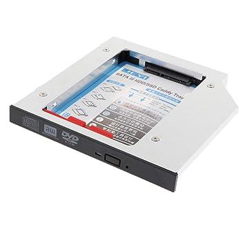 Bahía de DVD-ROM CD Bandeja de Disco Duro SATA SSD HDD de 2.5 ...