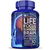 Life Focus Brain Function Supplement with Ginkgo biloba St John's Wort for a Memory Clarity & Mood Enhancement Booster 30 nootropic Limitless Pills