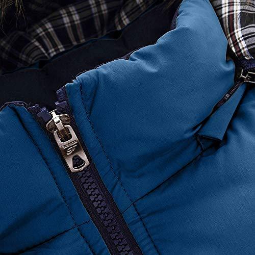 Veste Capuche Outwear Manteau Petits Morchan Hommes Bleu Chemisier Zipper Garçons Top Hiver Casual Chaud waqpUxvq