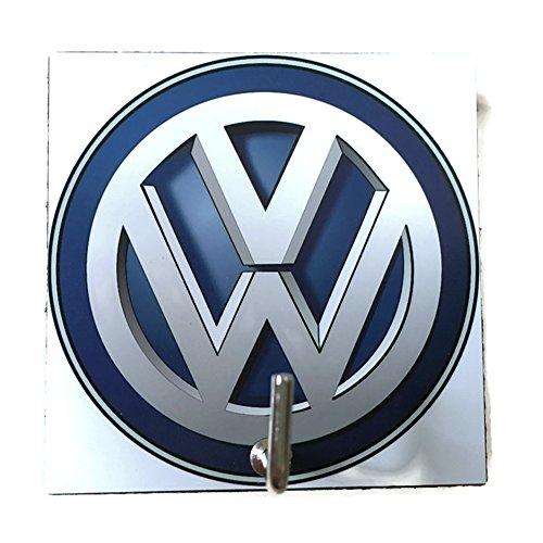 [Agility Bathroom Wall Hanger Hat Bag Key Adhesive Wood Hook Vintage Blue Volkswagen Logo's Photo] (Superhero Outfits Ideas)