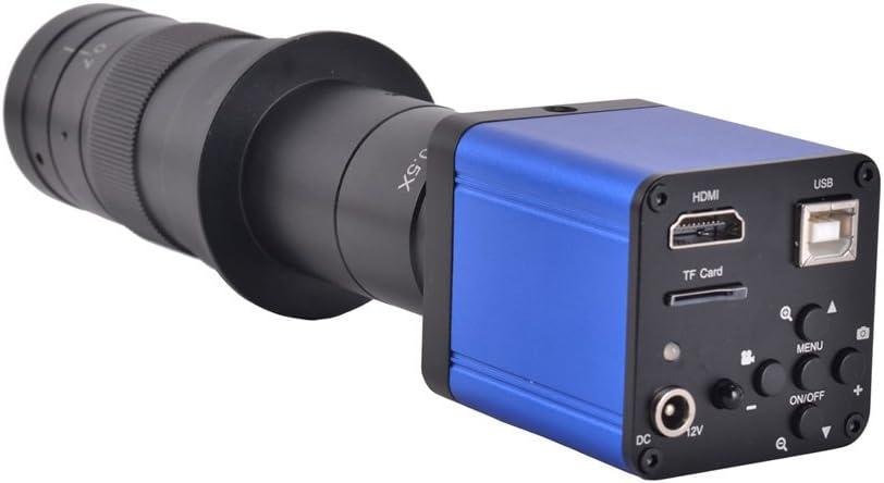 Fotocamera per microscopio industriale Unione Europea 37MP 1080P 60FPS HDMI USB videocamera industriale per microscopio Microscopio con zoom con adattatore di conversione 100-240 V
