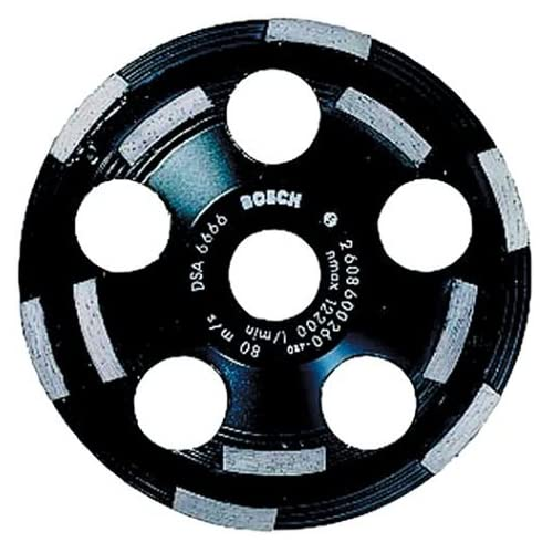 Image of Bosch DC520 5-Inch Diamond Cup Grinding Wheel for Abrasive Materials Home Improvements