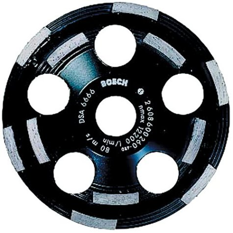 Bosch DC520 5-Inch Diamond Cup Grinding Wheel for Abrasive - Bosch Wheel Grinding