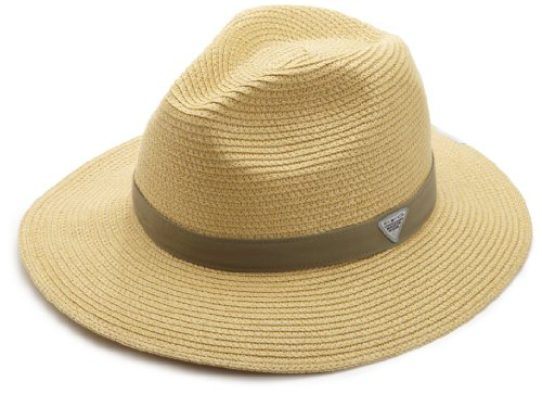 Columbia Bonehead Straw Hat, Natural, Sage, Small/Medium