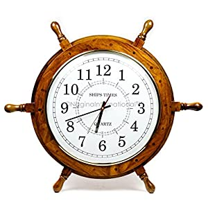 510V80uHU1L._SS300_ Best Ship Wheel Clocks