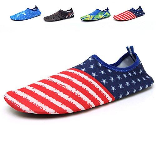 Schnell trocknende Aqua-Wasser-Schuhe Santiro Frauen-Männer für Strand-Pool-Brandungs-Yoga-Übung Mehrfarbig 3