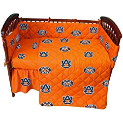 Auburn 5 Pc Baby Crib Logo Bedding Set