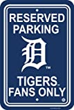 MLB Detroit Tigers Plastic Parking Sign Wall Sign 12 x 18in