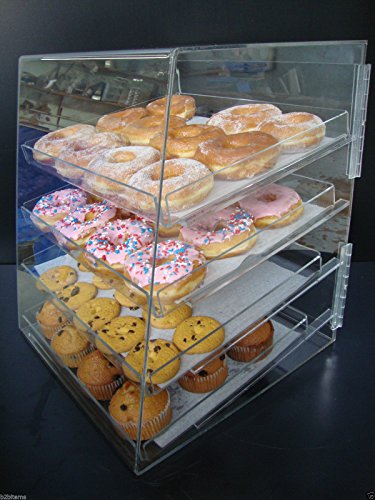 Marketing Holders Acrylic Pastry Bakery Donut Bagels Cookie Display Case w/4 ()