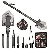 HONGNOR Military Folding Shovel Camping Multi-function Survival Kit, Entrenching Tool/Camping Multitool/Hiking/Emergency/Adventure