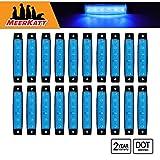 Meerkatt-Pack-of-20-38-Inch-6-LED-Blue-Side-Indicators-Marker-Bright-Waterproof-Clearance-Lamp-License-Decorat