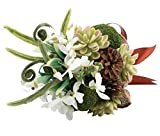 Lillian Rose Woodland Outdoor Wedding Moss Bouquet