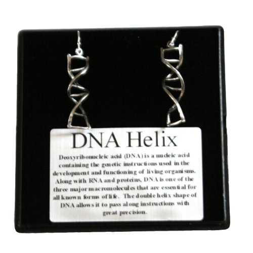 DNA Earrings (Pewter) Sterling Silver leverbacks