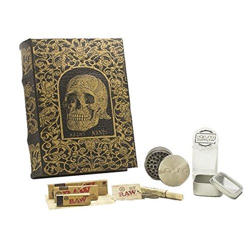 XL-Leather-Skull-Book-Box-Bundle-Stash-Box-Storage-Box-Secret-Box