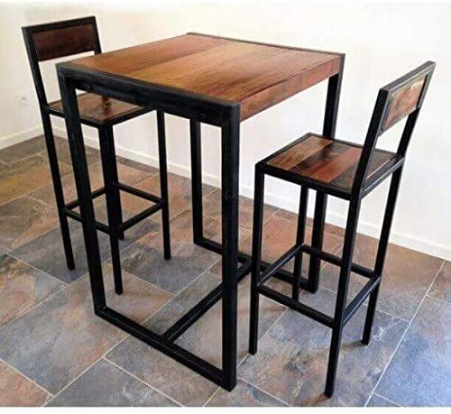 MATHI DESIGN Factory Conjunto de sillas y Mesa Estilo Industrial ...